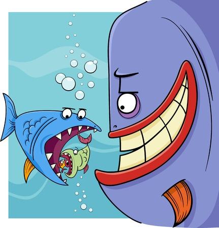 Proverb - bigger fish